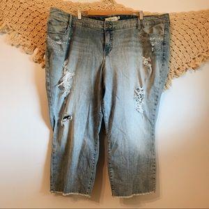 Torrid | Skinny Distressed Light Wash Jeans